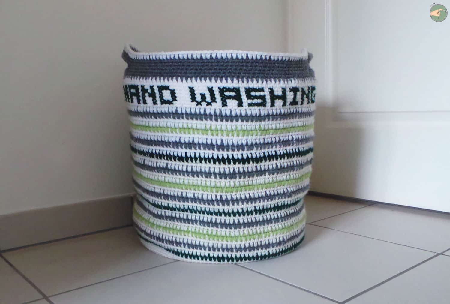 Hand Washing Basket – Free Crochet Pattern
