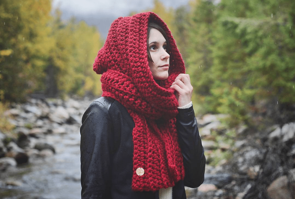Hooded Scarf - Knitbrooks