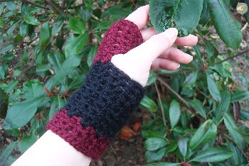 Black and Red Mittens