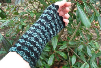 Black and Green Mittens