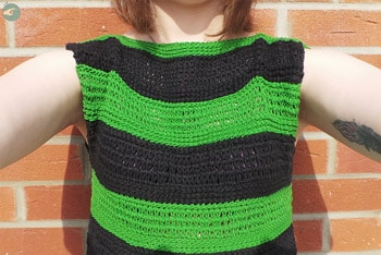 Bicolor T-shirt (Tunisian Crochet)