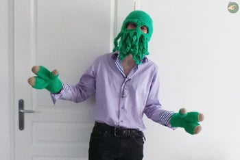 Cthulhu Hat and Gloves