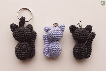 Silhouettes of Cats Keychains